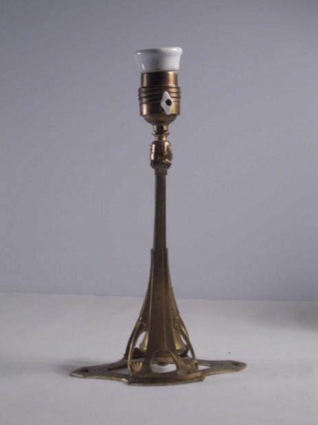 organic art nouveau combination lamp brass 1900