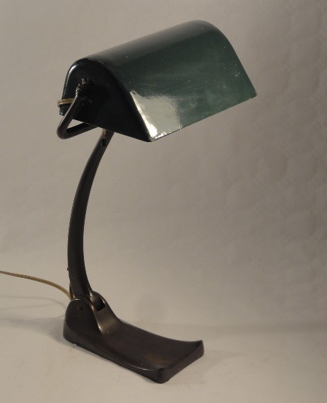 original bankers lamp emaille shade