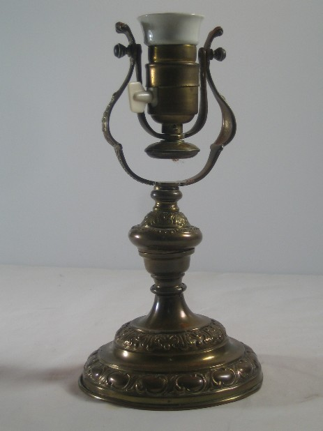 brass combination lamp 1890 ornaments original vintage