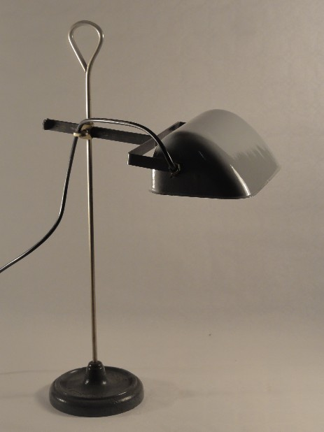 BAG Turgi working lamp emaille shade grey 1910