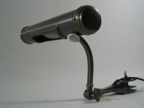 original art nouveau piano lamp reading light patinated 1910