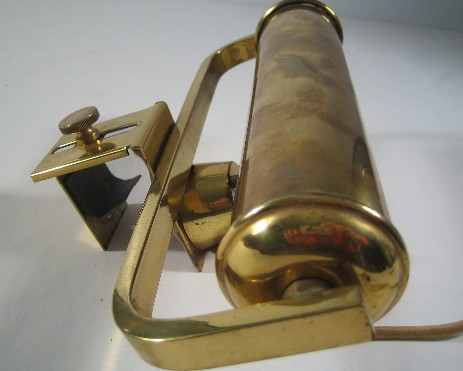 big brass piano lamp reading light original art nouveau 1920
