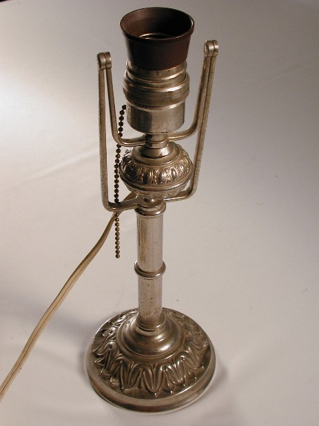 combination lamp nickel plated original 1900