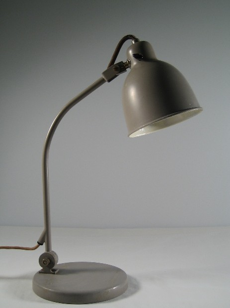 grey original alfred müller working lamp swiss design 1940