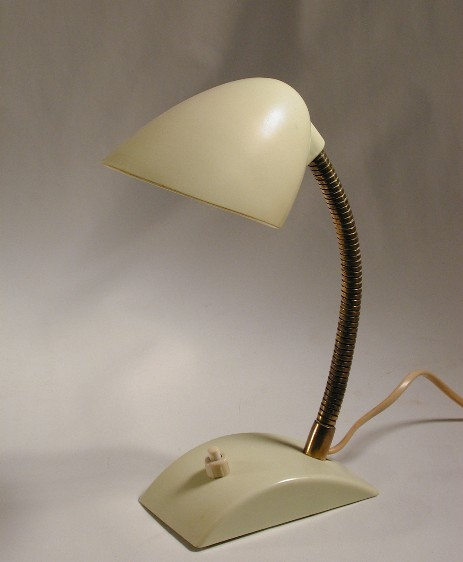 small bakelit eart deco bedside lamp cream