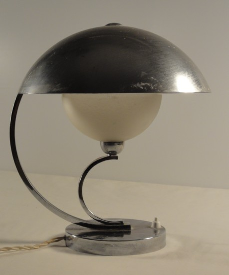 modernist art deco table lamp chrome thirties