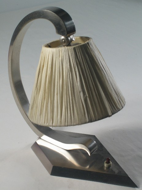 art deco table lamp modernist 1930 raffia shade