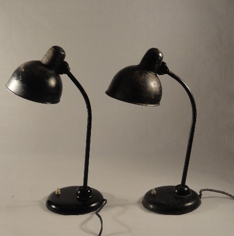 pair of original bauhaus christian dell mod 6556 table lamps