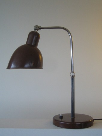 christian dell fine articulated lamp belmag brown 1930