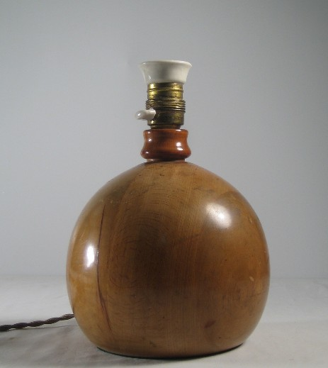wooden globe lamp stand art deco original 1925