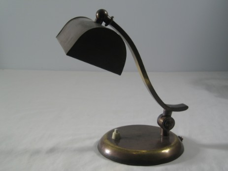brass piano lamp art déco patinated