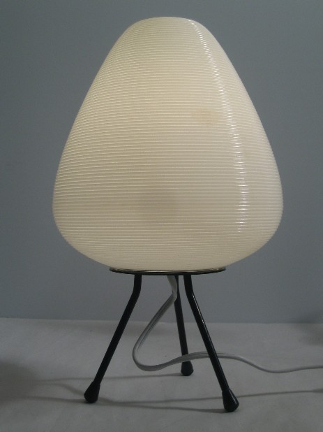 tripod acrylic glass table lamp 50's design