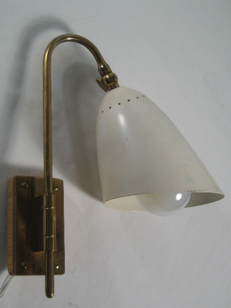 small fifties metall sconce turnable brass holder