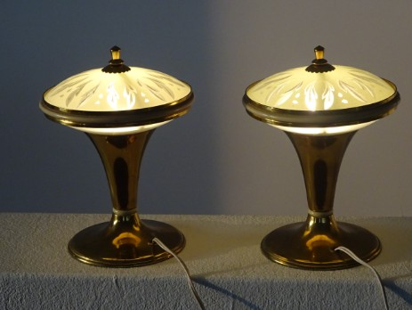 italian lamps brass small fifties 50s