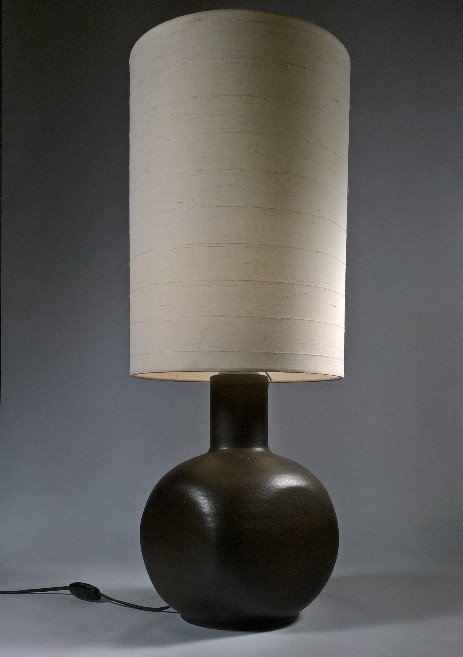 ceramics tablelamp sixties textile textile shade