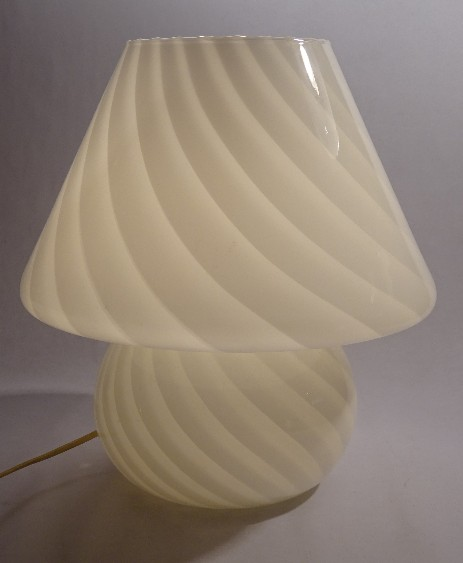 giant murano mushroom swirlglass table lamp original 1960 1970