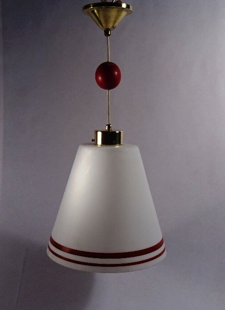 modernism hangimg lamp with wooden ball