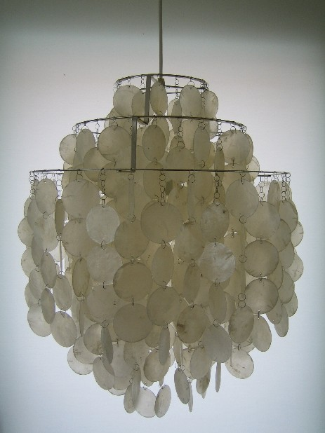 verner panton fun 1 dm shell lamp 1960