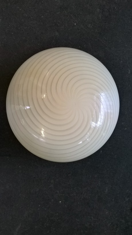 big murano swirl glass ceiling lamp wall sconce seventies design