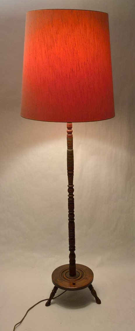 alpine swiss genuine wooden floor lamp 1800 1930