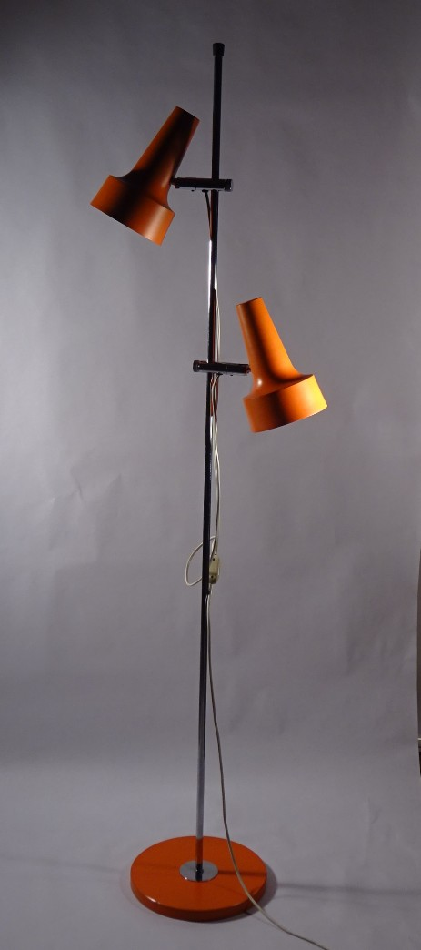 original Belux swiss design vintage spot light orange 1960