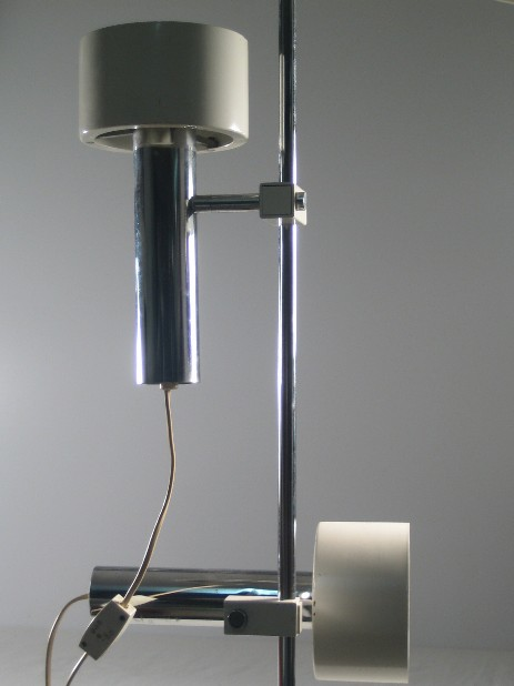 spotlamp floor lamp white with chrome shades