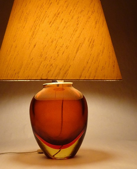 big murano lamp sixties design original vintage